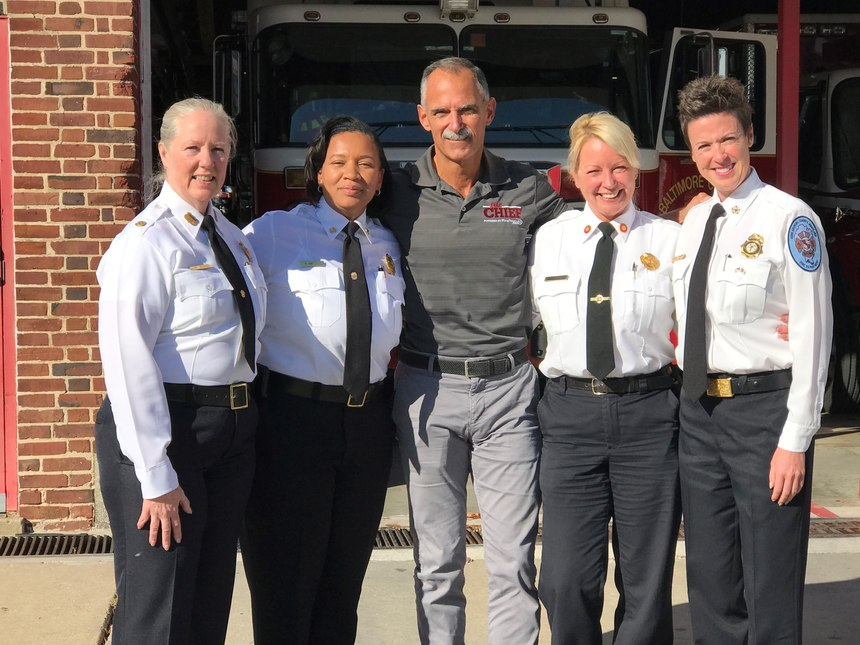 From left to right: Chiefs Rund, Green, Bashoor, Uhlhorn and Wolford.
