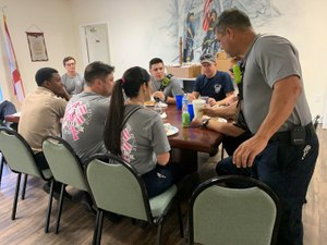 The training starts with breaking bread with each other at the dinner table – another hour (if you're not interrupted by calls) of opportunity to discuss, learn and bond your crew. (Photo/Marc Bashoor)
