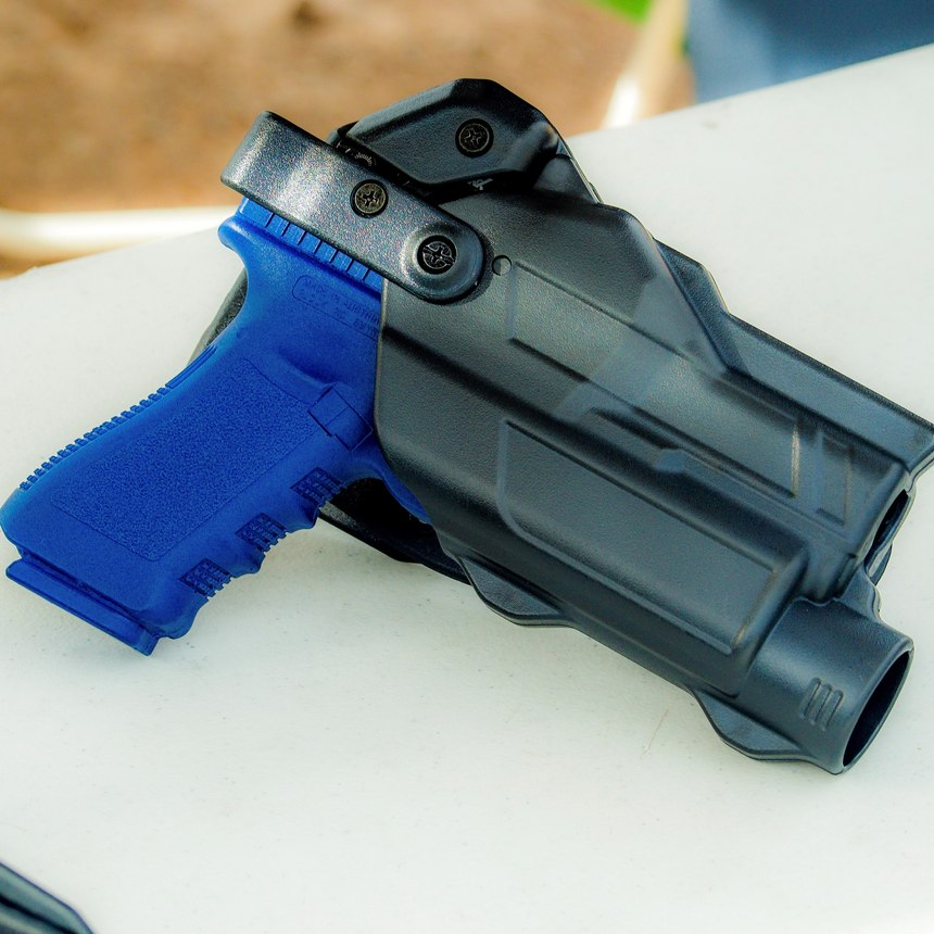 The Alien Gear Rapid Fire Holster is something new from a company known for hybrid IWB holsters. This is Alien Gear's first duty holster product, and it is brilliant. (Photo/Gene Whisenand)