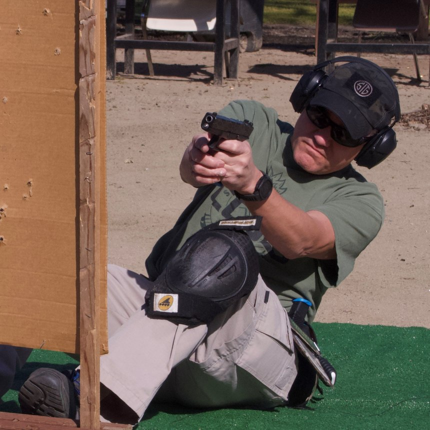 The pinned officer drill will improve shooting accuracy and gun handling while delivering a powerful cardio workout. (Photo/Robert D. Marvulli)