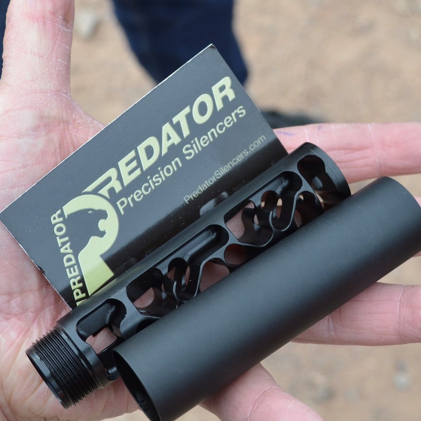 The 9mm Silencer by Predator Precision Silencers was unusual looking, and operated differently than any pistol-caliber suppressor I have tested.