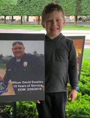 Son of Officer David Swailes lost to suicide on February 26, 2016, at the 2019 Blue H.E.L.P. Police Week event. (Photo/Blue H.E.L.P.)