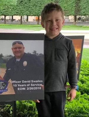 Son of Officer David Swailes lost to suicide on February 26, 2016, at the 2019 Blue H.E.L.P. Police Week event.