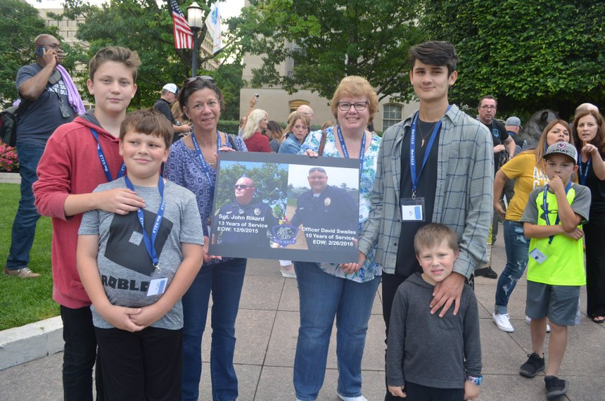 Children of Officer David Swailes lost to suicide on February 26, 2016, and a family member of Sgt. John Rikard lost to suicide on December 9, 2015, at the 2019 Blue H.E.L.P. Police Week event. (Photo/Blue H.E.L.P.)