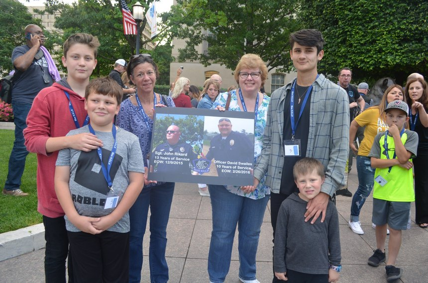 Children of Officer David Swailes lost to suicide on February 26, 2016, and a family member of Sgt. John Rikard lost to suicide on December 9, 2015, at the 2019 Blue H.E.L.P. Police Week event.