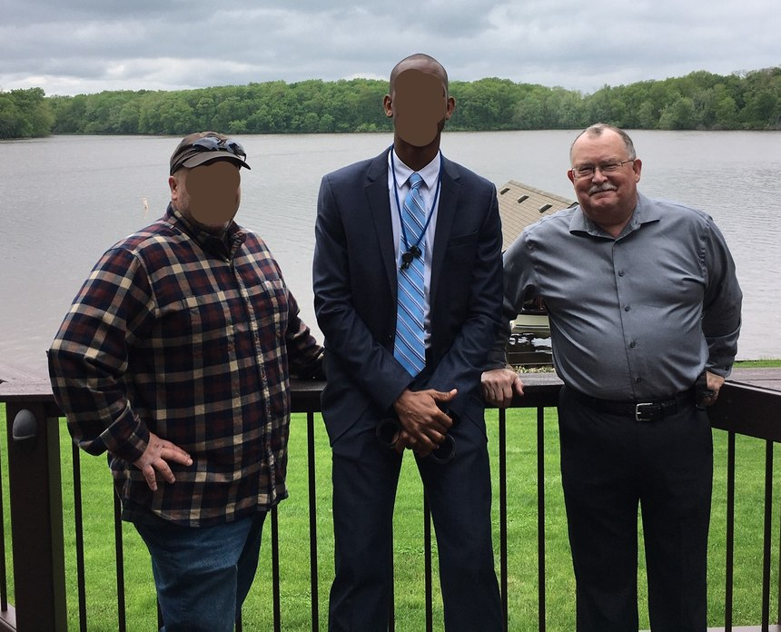 L-R: SSA John Doe, SA James Doe and article author Dick Fairburn. Due to the often covert nature of their work, the FBI agents' identities are masked.