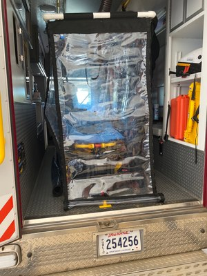 In response to safety concerns from front-line medics, Bossier Parish (Louisiana) EMS customized a PVC tubing-based patient isolation device, adding ports for medics to attend to patients from outside the device.