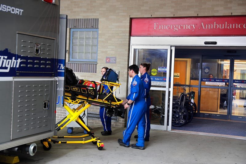 The emergency department at Tufts is one of five Level 1 trauma centers in Boston, where ambulance diversion was ended 10 years ago.