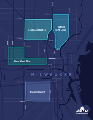 Brew City Match aims to bring back Milwaukee'sHistoric King Drive, North Avenue & Fond du Lac, and Cesar Chavez Drive corridors.