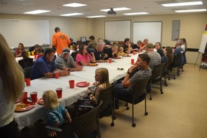 """One way to encourage the """"fire family"""" feeling among members is to hold a monthly family meal or movie night for members and their families at the station."""