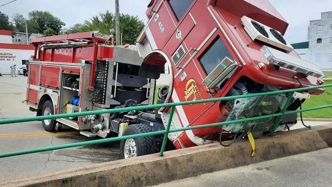 Wheel chocks are a key tool to prevent rollaway. (Photo/WCHS.com)