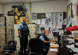 Two CPD officers hard at work. (image/GovX)