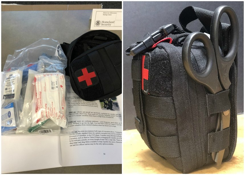 All students received a manual, an IFAK and all the gear in the bag, which includes multiple tourniquets, an airway device, an Israeli bandage and combat gauze. The kit as it came was outstanding. I simply added a pair of XShears to make it perfect!