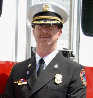Chief Norvin Collins, fire chief of the San Juan Island (Washington) Fire District.