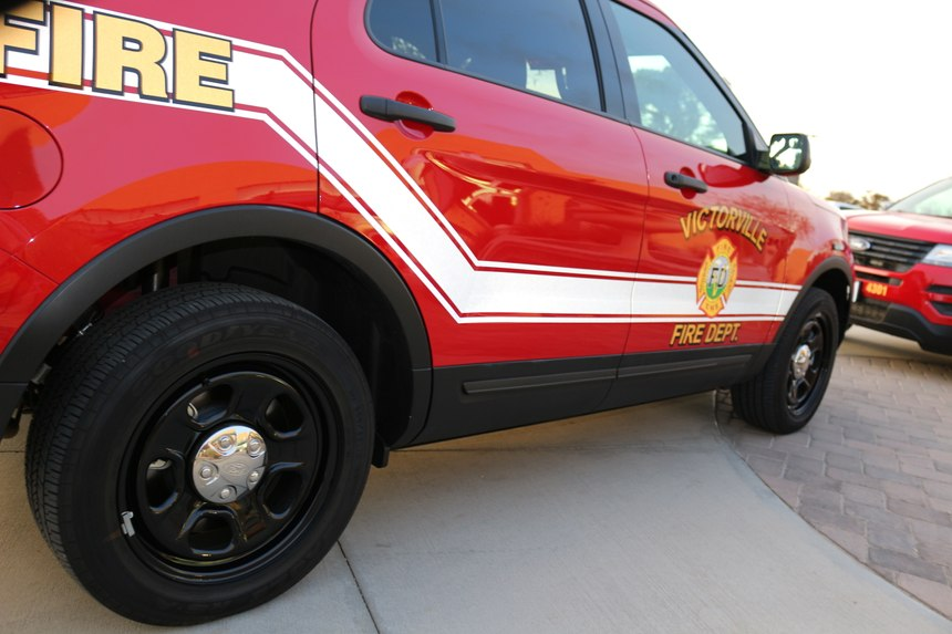 A close-up view of one of the new command vehicles for the Victorville FD. (Photo/City of Victorville)