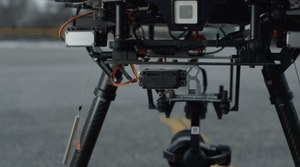 The drop release system on the DJI Matrice 600 Pro drone platform.