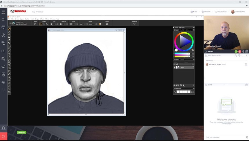 Using technology it is possible to create successful police composite sketches without being in the same location as the eyewitnesses and investigators.