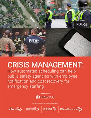 Download the free white paper to learn how automated scheduling technology can help your agency get the right employees on scene during a crisis.