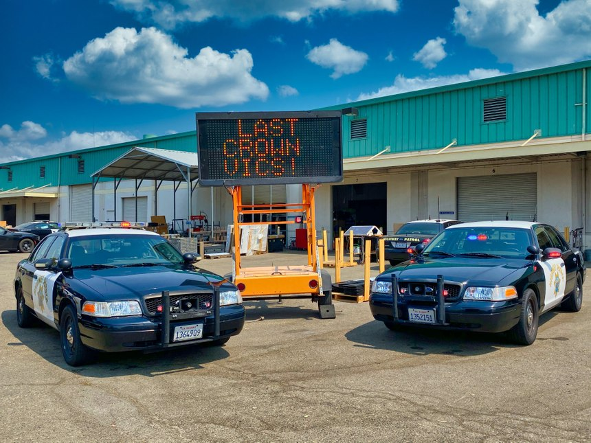 """The California Highway Patrol says goodbye to its last """"Crown Vics"""" before officially retiring the iconic model. (Photo/California Highway Patrol)"""