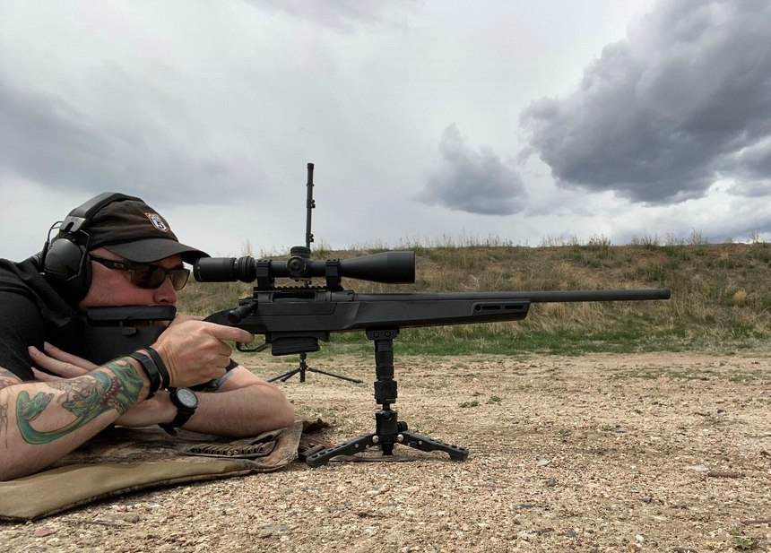 Using the QD again, I was able to separate from the monopod and use the smaller tripod for prone shooting.