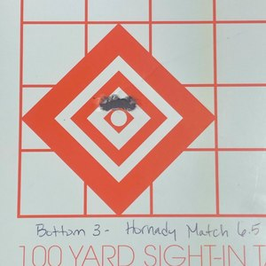 Without a doubt, the best group was just over a quarter-inch at 100 yards.