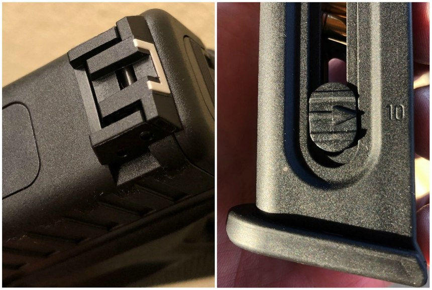 Cool features like an adjustable rear sight and round count/spring depressor are much appreciated. (Photos/Sean Curtis)
