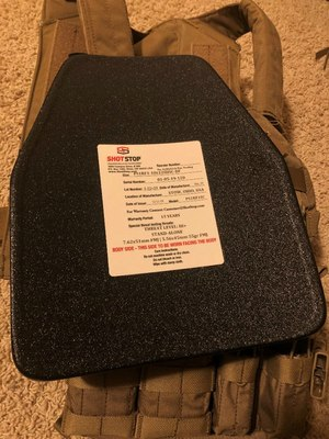 The ShotStop multi-strike III+ rifle plate only weighs 3 pounds and has a 15-year warranty.