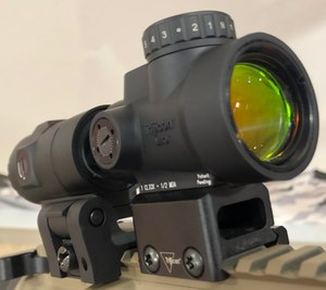 Trijicon released an HD model of its MRO at SHOT Show in conjunction with a new 3X magnifier. (Photo/Sean Curtis)