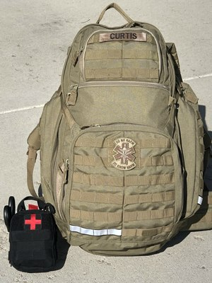 This 5.11 84 ALS Backpack is a medic's portable dream for carrying a good array of first response medical gear.At a minimum, carry the small kit on the left.