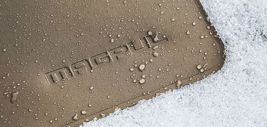Magpul's pouches are water-resistant to keep items dry in most wet environments.