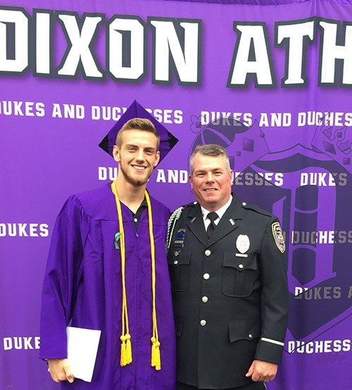 Mark Dallas celebrates his son's graduation just days after the incident. (courtesy image)