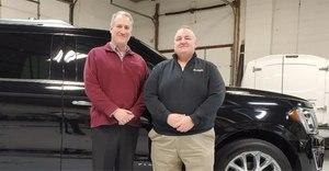 Damon Oaten, VP of ESI Equipment, left, with Chris Breslin, VP of sale for Atlantic.