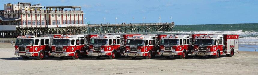 Daytona Beach Fire Department's all E-ONE fleet.
