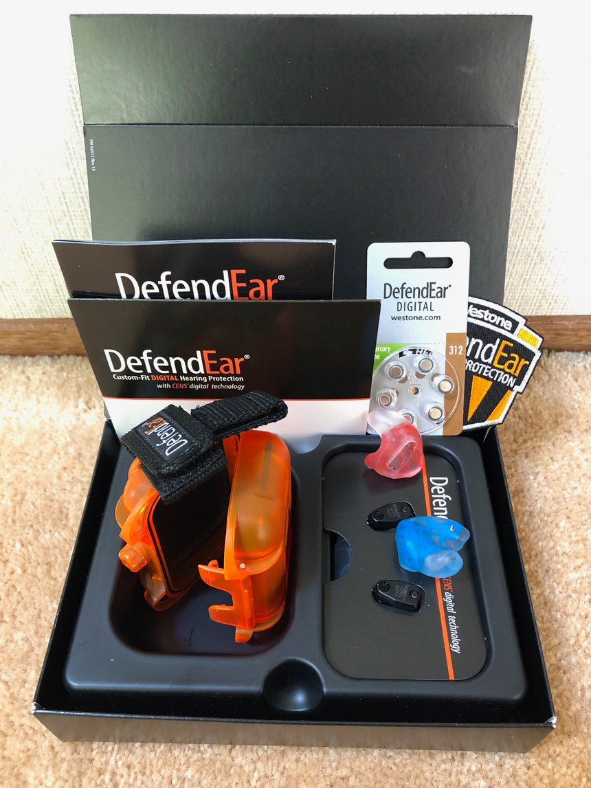 All pairs of DefendEar Digitals come packaged with Oto-Clens cleaner, Oto-Ease lubricant, a waterproof case with belt loop holder and a magnetic battery changing tool. (Photo/Ron LaPedis)
