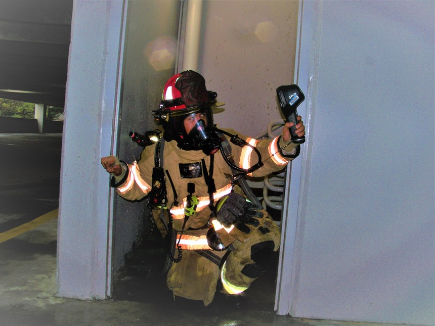 Before any hoseline is dropped or committed, you must locate the fire. You want to locate the fire first to eliminate any unnecessary actions that could be detrimental to successful operations, such as hooking into the wrong standpipe. The search for the fire location can be as simple as taking a look onto the fire floor with a TIC or may require a full search operation.