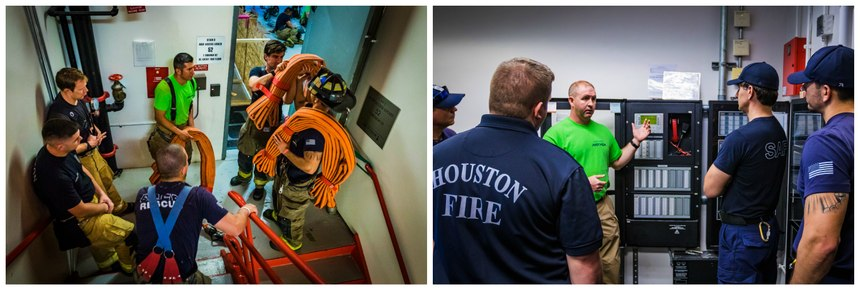 A two-story building can give you ladder training, hoseline advancement, search and ventilation training at one location. (Photos/Joe Buvid)