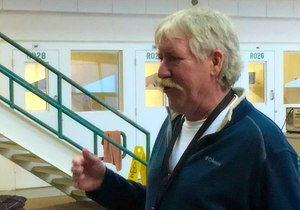 The 10-week janitorial skills course Martin Douthit teaches is intensive, hands-on and demanding. (Photo/Linda Robson)