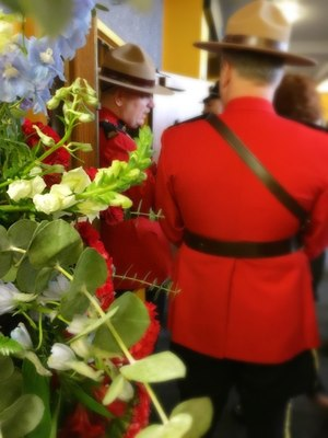 Members of the Royal Canadian Mounted Police at the memorial service for Pierce County Sheriff's Deputy Daniel McCartney. (Photo/Linda Robson)