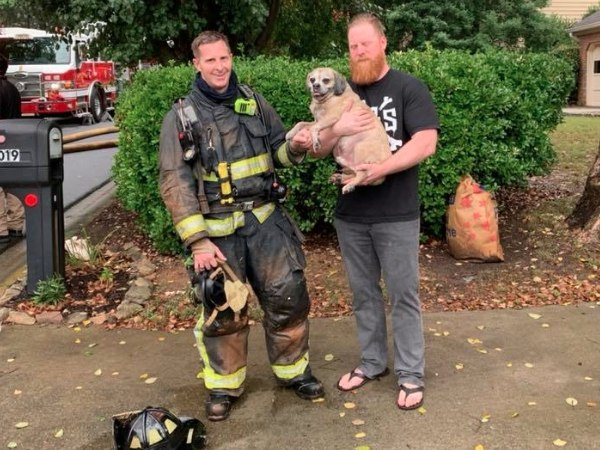 The video of the rescue, which was posted on the department Facebook page, went viral. (Photo/Smyrna Fire Department Facebook)