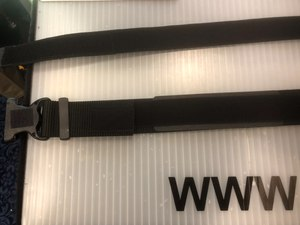 The Dragon Skin inner belt (top) and outer belt (bottom) combine to form an ergonomic system for the officer.