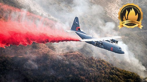 The Department of Defense has supported interagency wildland fire management since 1975 and an official liaison was established in 2008 to strengthen the partnership. One way the DOD supports firefighting efforts is through the Modular Airborne Firefighting System. (Photo/NIFC)