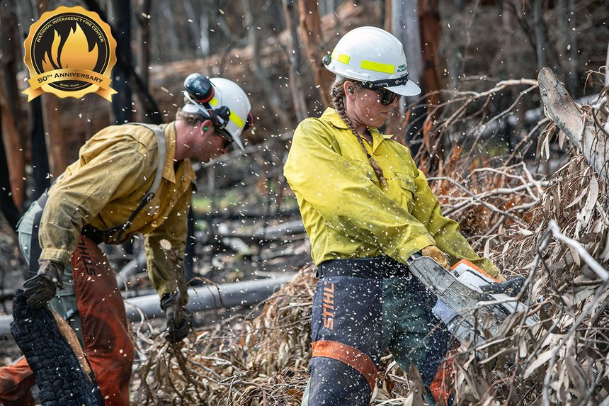 U.S. firefighters assisted firefighting efforts during the Australia brush fire crisis of 2019-2020. (Photo/NIFC)