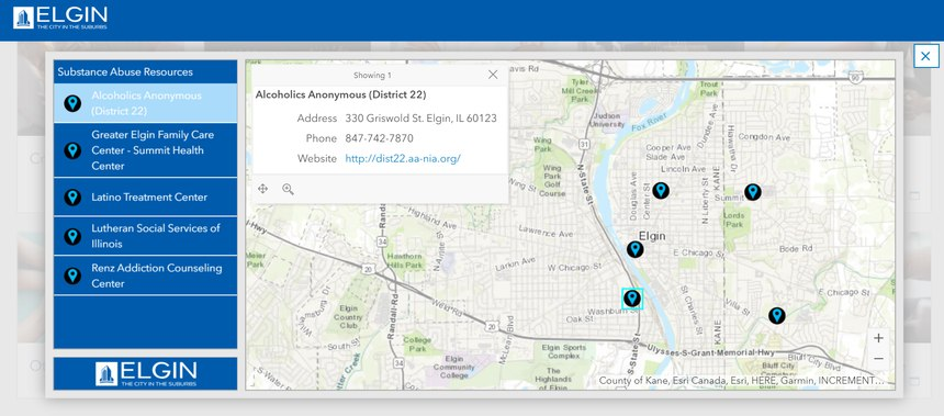 Citizens can easily find substance abuse resources and other essential services in the community via the city's Coronavirus Mapping Resource Center.