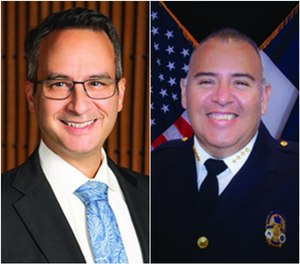 Left to right: Mark E. Escott, MD, MPH, FACEP, FAEMS, NRP, is the EMS system medical director for the City of Austin and Travis County, Texas.Ernesto Rodriguez, MA, EMT-P, is the chief of Austin-Travis County EMS.