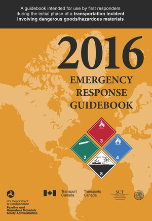 Identification for trained first responders starts by adhering to the guidelines established in the Emergency Response Guidebook, issued by Department of Transportation