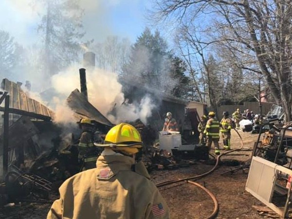 The barn itself was not occupied at the time of the fire, according to fire officials. (Photo/Scotland Volunteer Fire Department Facebook)