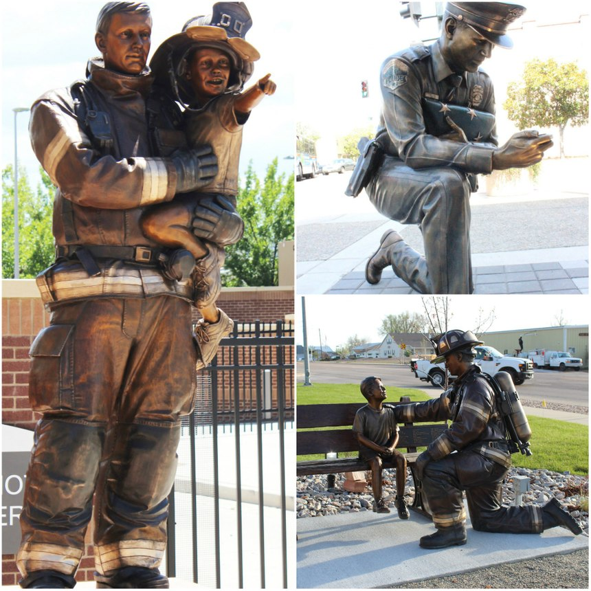 Weishel has created numerous sculptures to honor fire, police and military services. (Photos/Austin Weishel)