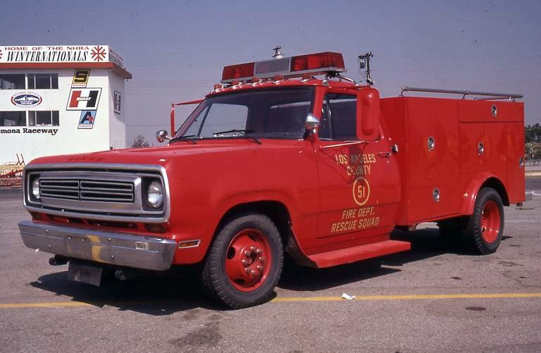 """Los Angeles County Fire Department Squad 51 was made popular in the 1970's TV show """"Emergency!"""""""