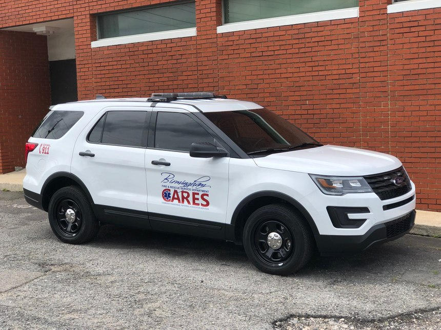 Grant money helped purchase a new vehicle for the C.A.R.E.S. program.
