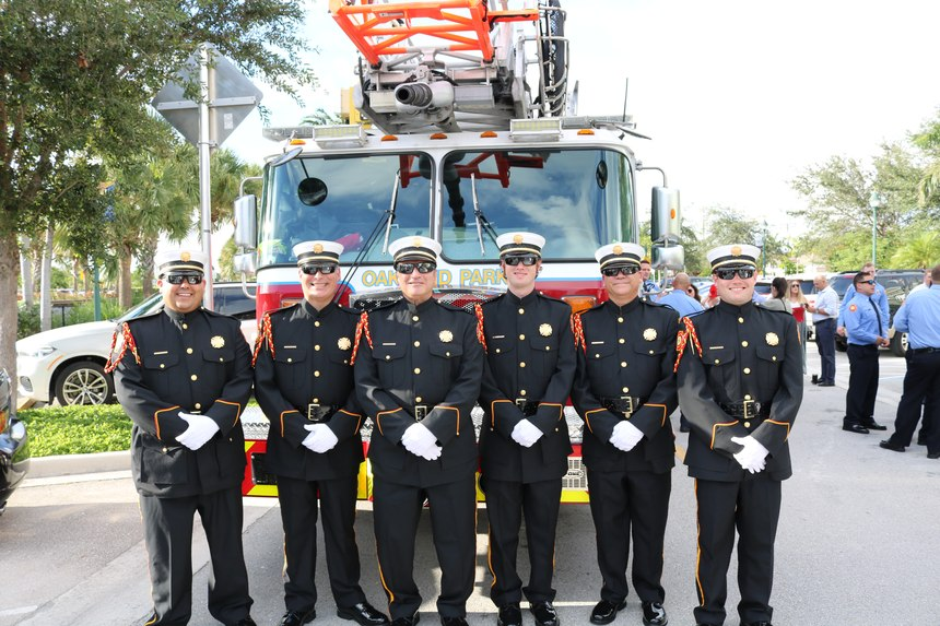 City of Oakland Park, FL, Fire Rescue, winners of the 2019 Best Dressed Public Safety Award ®for First Resonders, Small Department
